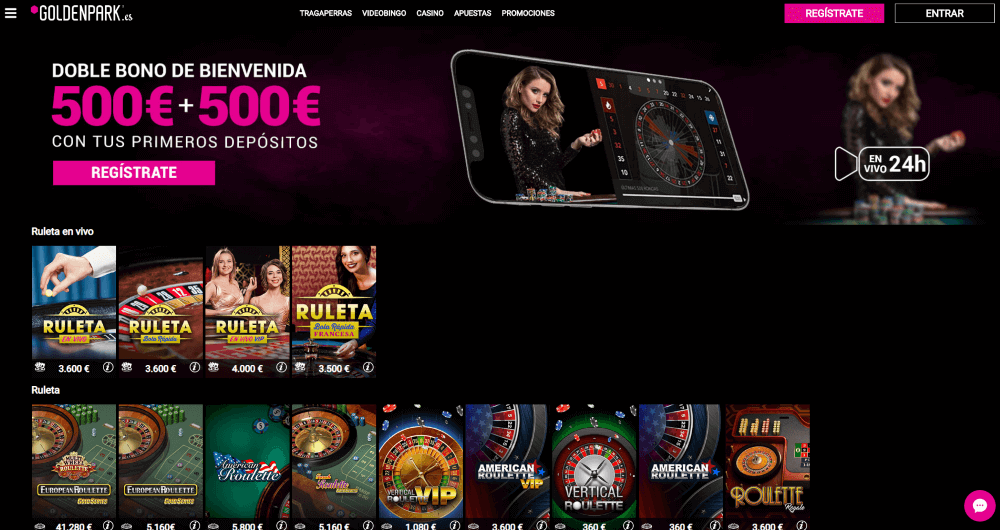 GoldenPark Casino Ruletas